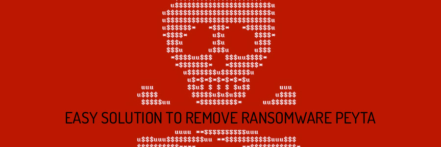 how to remove ransomware Peyta